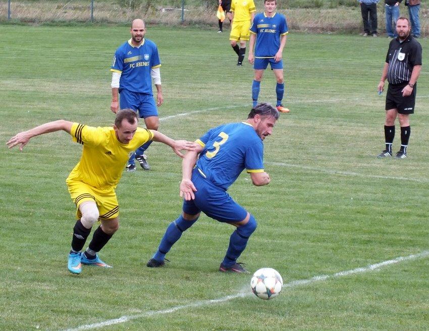 Svätoplukovo bolo o krok vpred, po dobrom výkone ukončilo jeleneckú pohárovú púť. FOTO: Futbalové fórum.